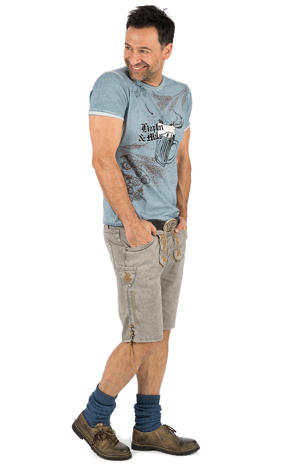 weitere Bilder von Trachten T-Shirt E50 - HOPFEN blau