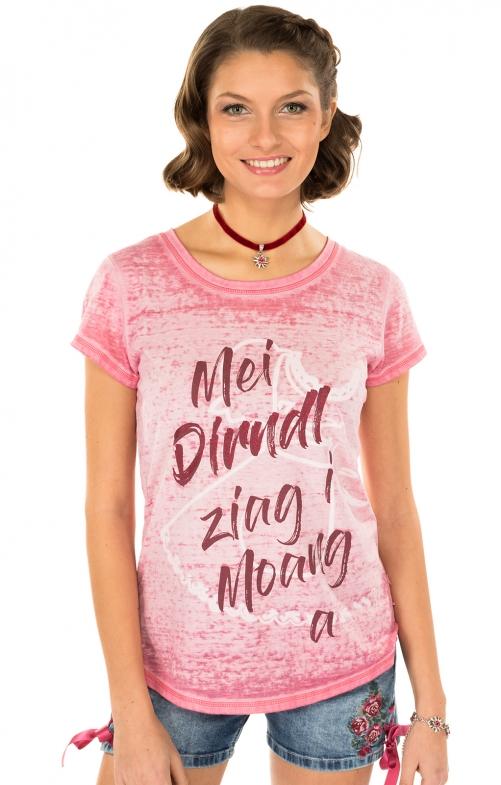 Trachten T-Shirt K90 DIRNDL pink