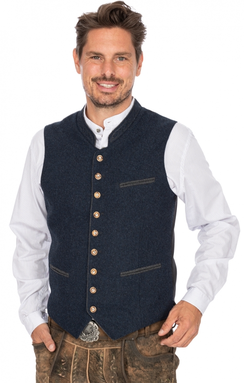 Tradition vest SIRIUS dark blue gray