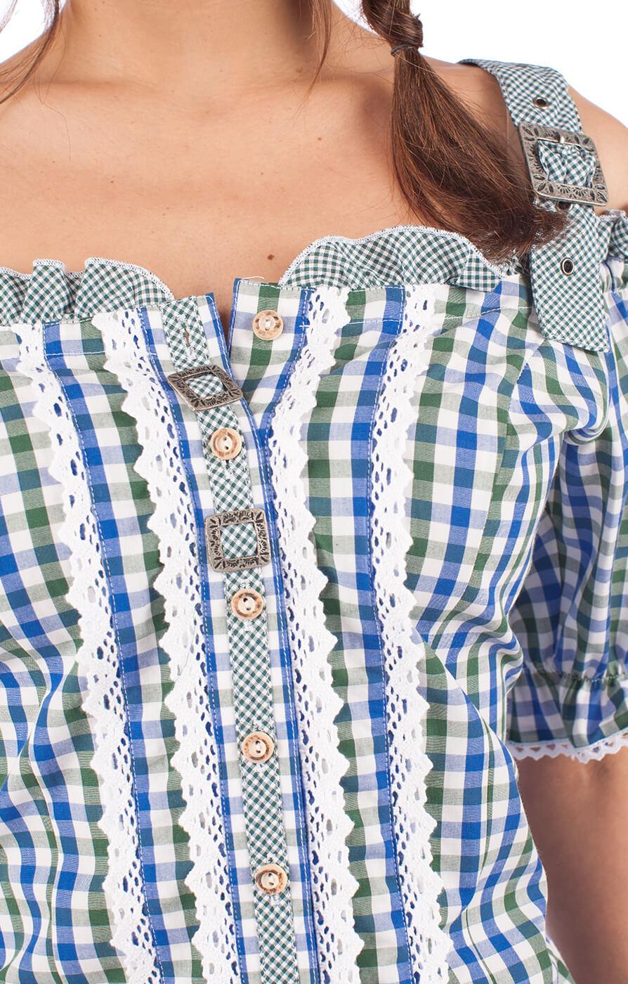 weitere Bilder von Traditional blouse 951000-3374-48 green blue