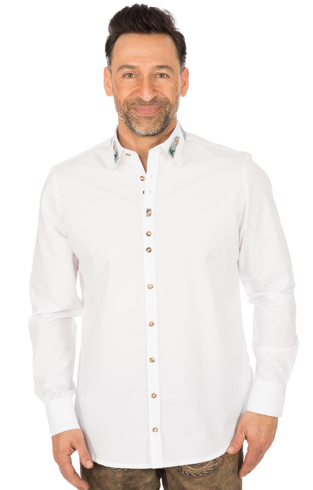 Trachtenhemd CLASSICO weiss von OS-Trachten