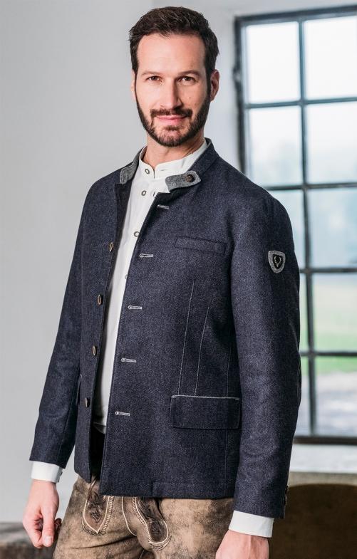 German traditional jacket NEUBRUNN blue gray