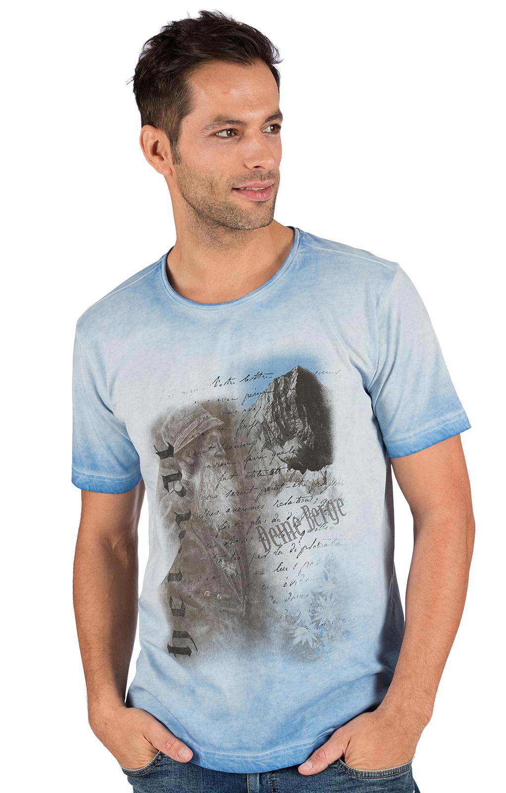 Trachten T-Shirt FYNN hellblau von OS-Trachten