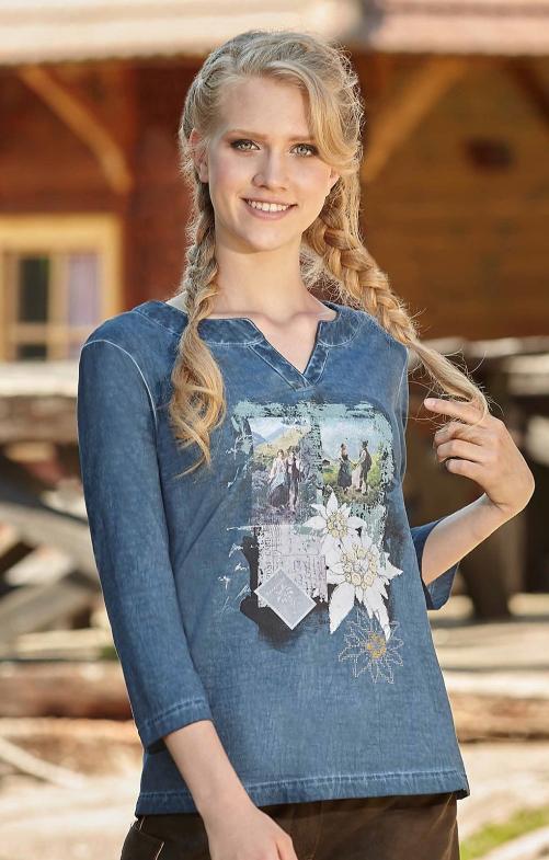 Tiroler Tiroler T-Shirtss 321111 denim