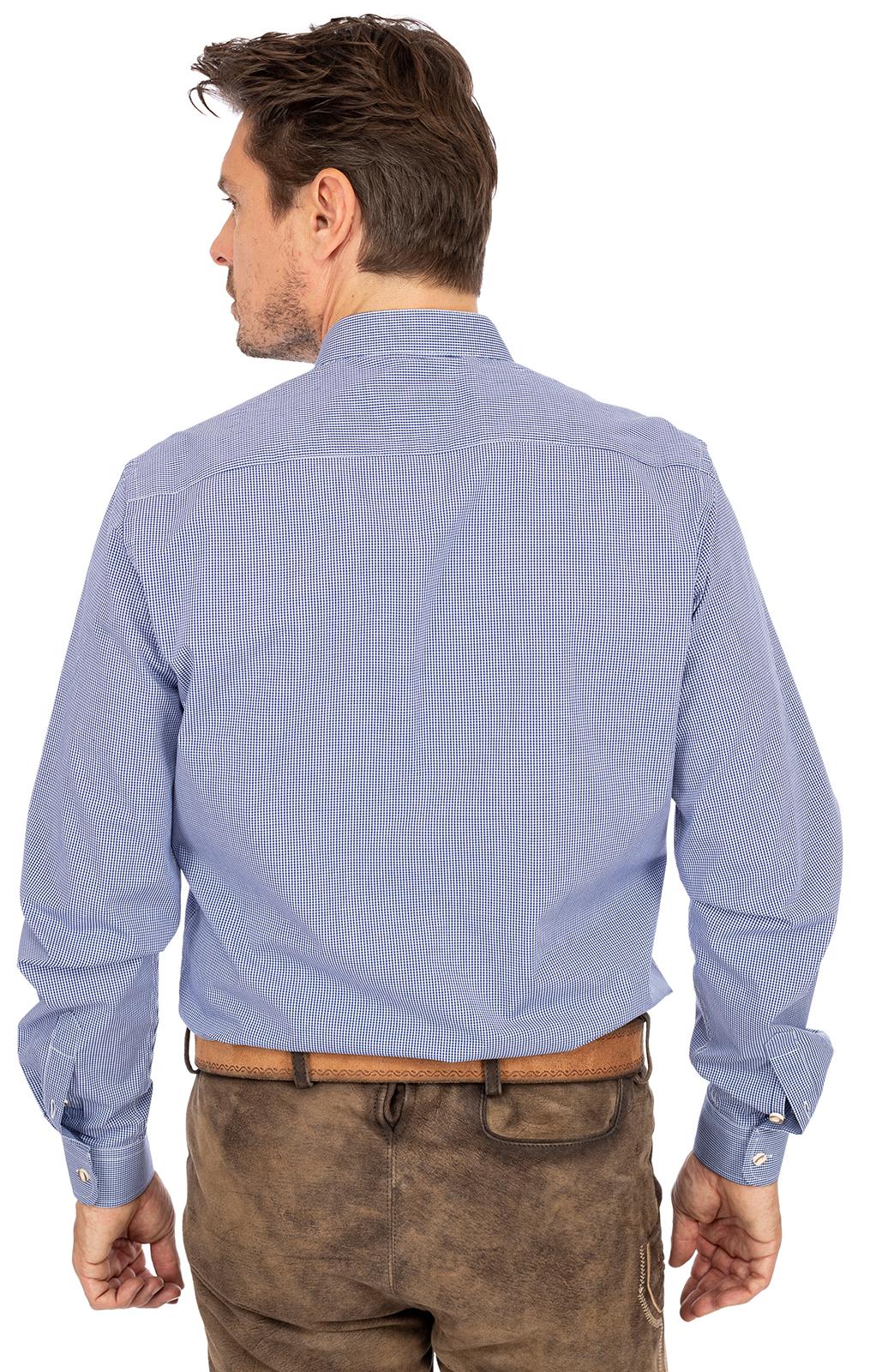 weitere Bilder von Hemd Stehkragen 760CO blau