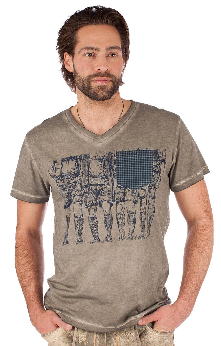 Trachten T-Shirt 92200-44taupe von Krüger Dirndl