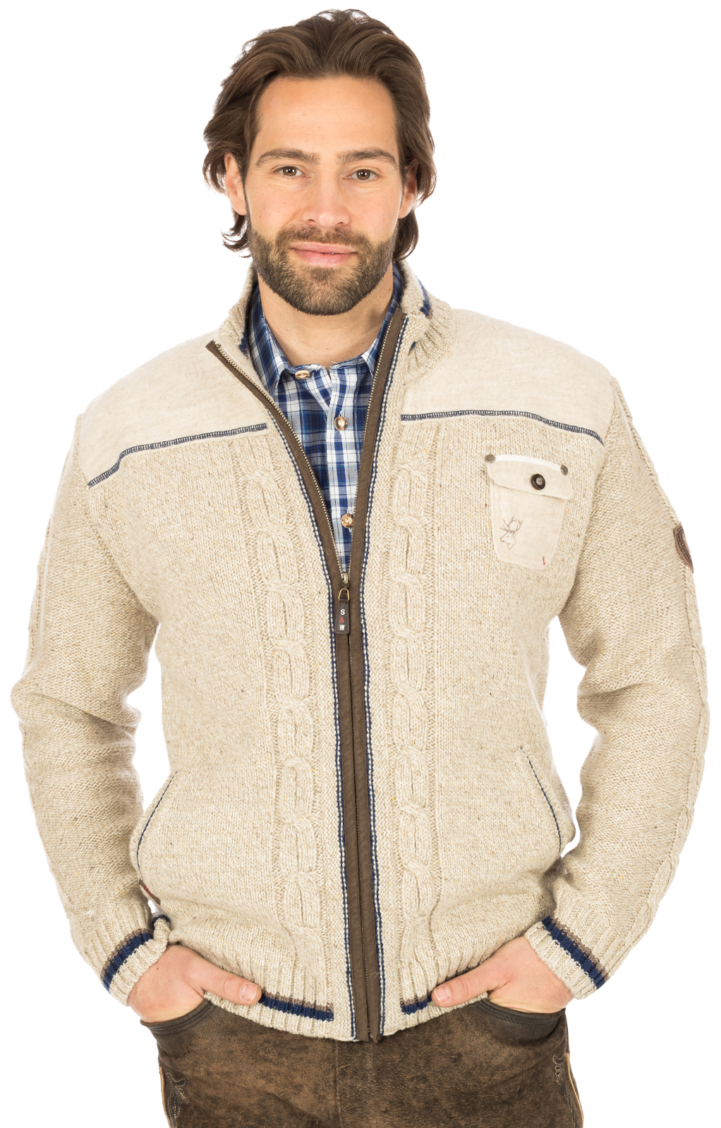 Traditional german cardigan natur von Spieth & Wensky