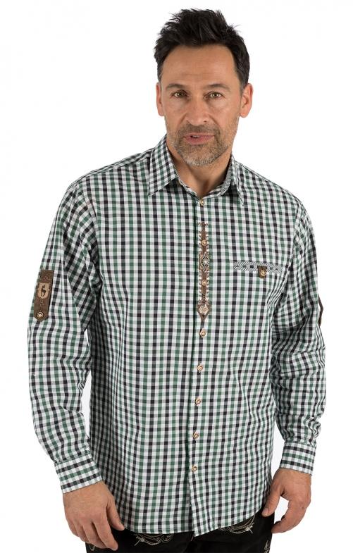 German traditional shirt long sleeve BERNI green