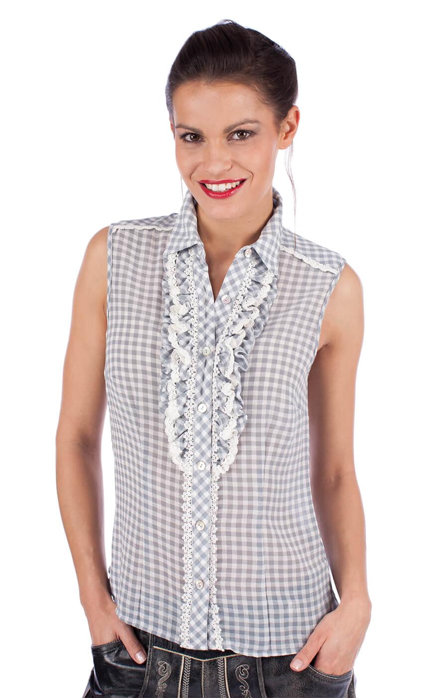 Traditional blouse 33822-43 gray von Krüger Dirndl