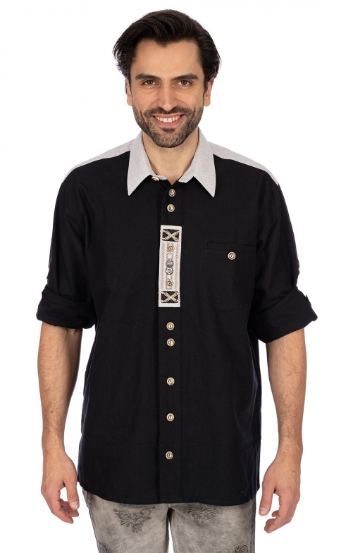 German traditional shirt BENEDIKT black
