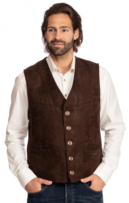 Traditional waistcoat STAUFEN brown