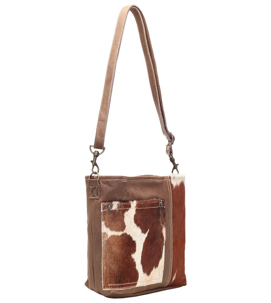 weitere Bilder von Trachtentasche TA53028 braun mit Echt Kuhfell