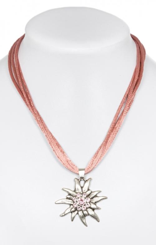 Halskette mit Edelweiss 9196-4 altrosa
