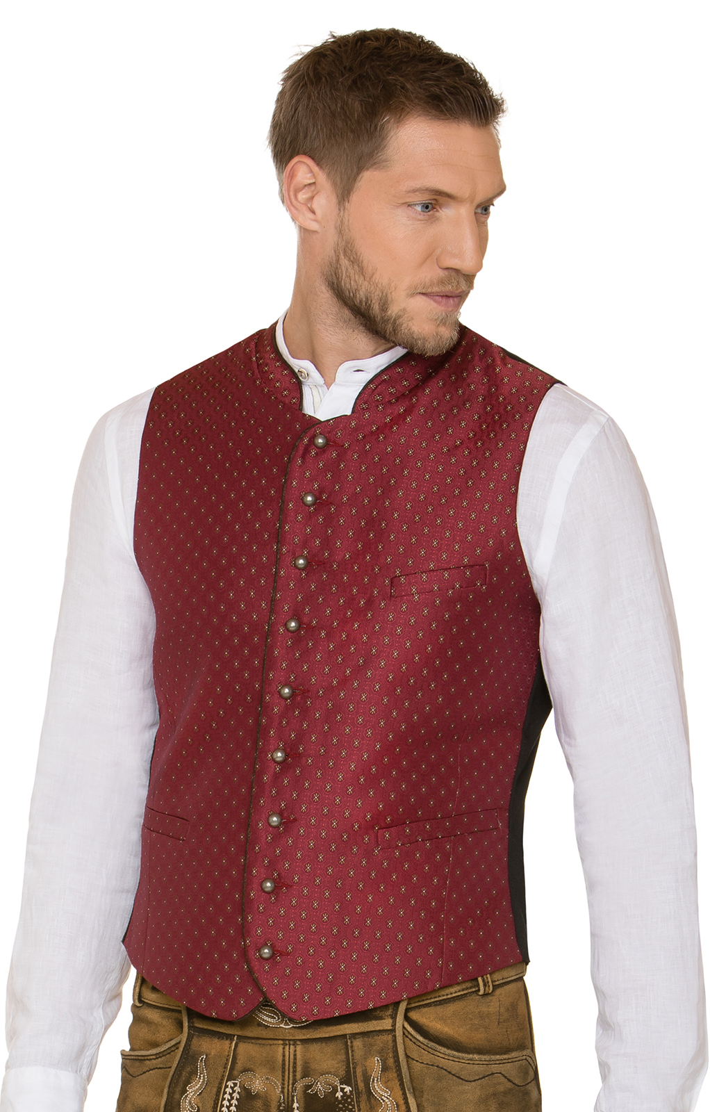 Traditional waistcoat Pino red von Stockerpoint