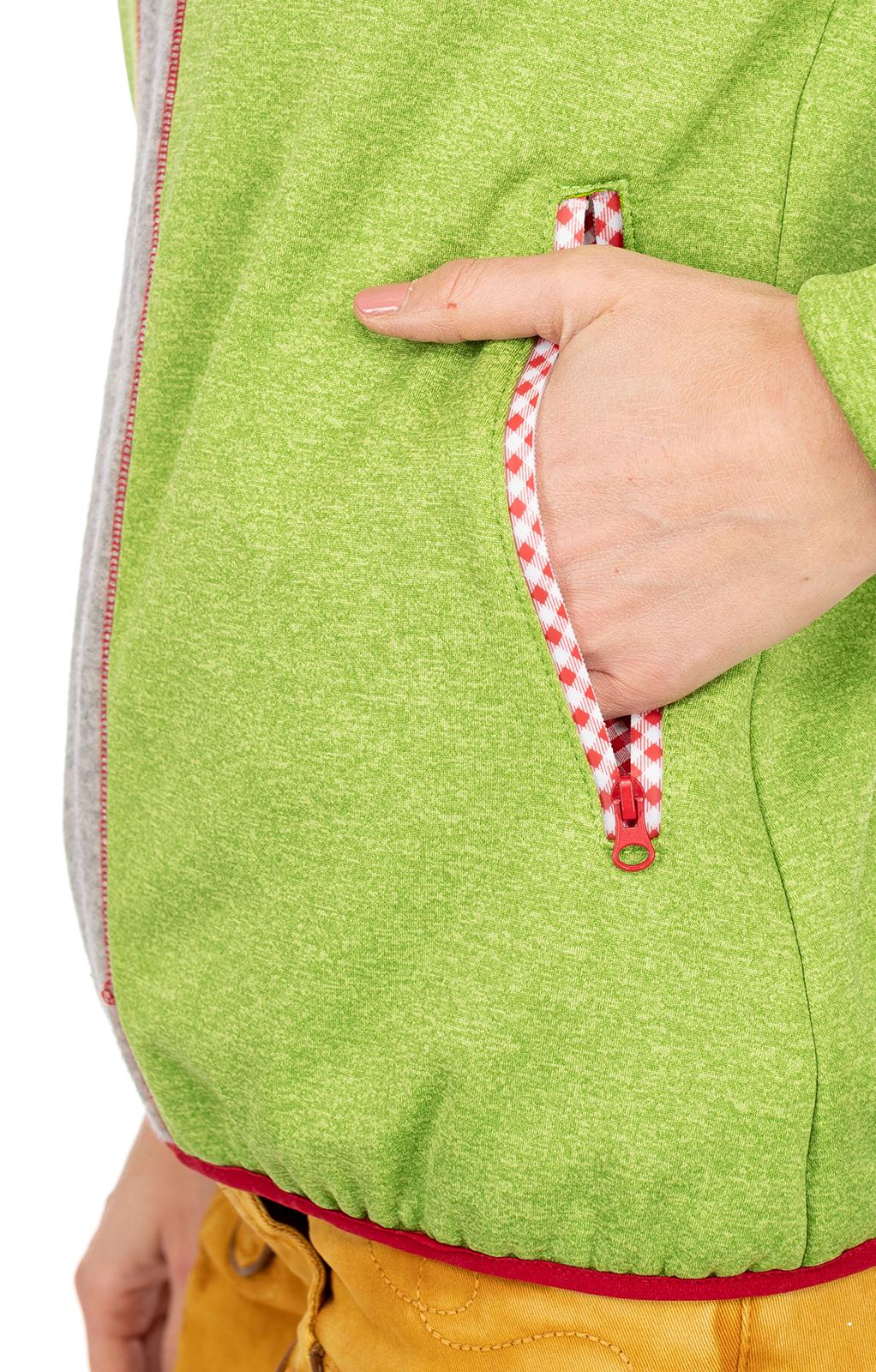 weitere Bilder von Trachtenjacke Hoody SANDEGG grün grau