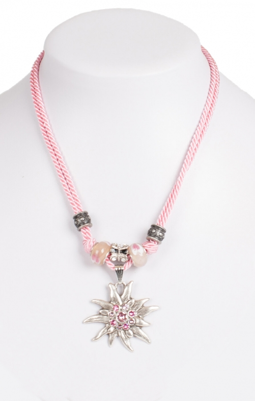 Tradtional necklace cord 12702-9196 rose