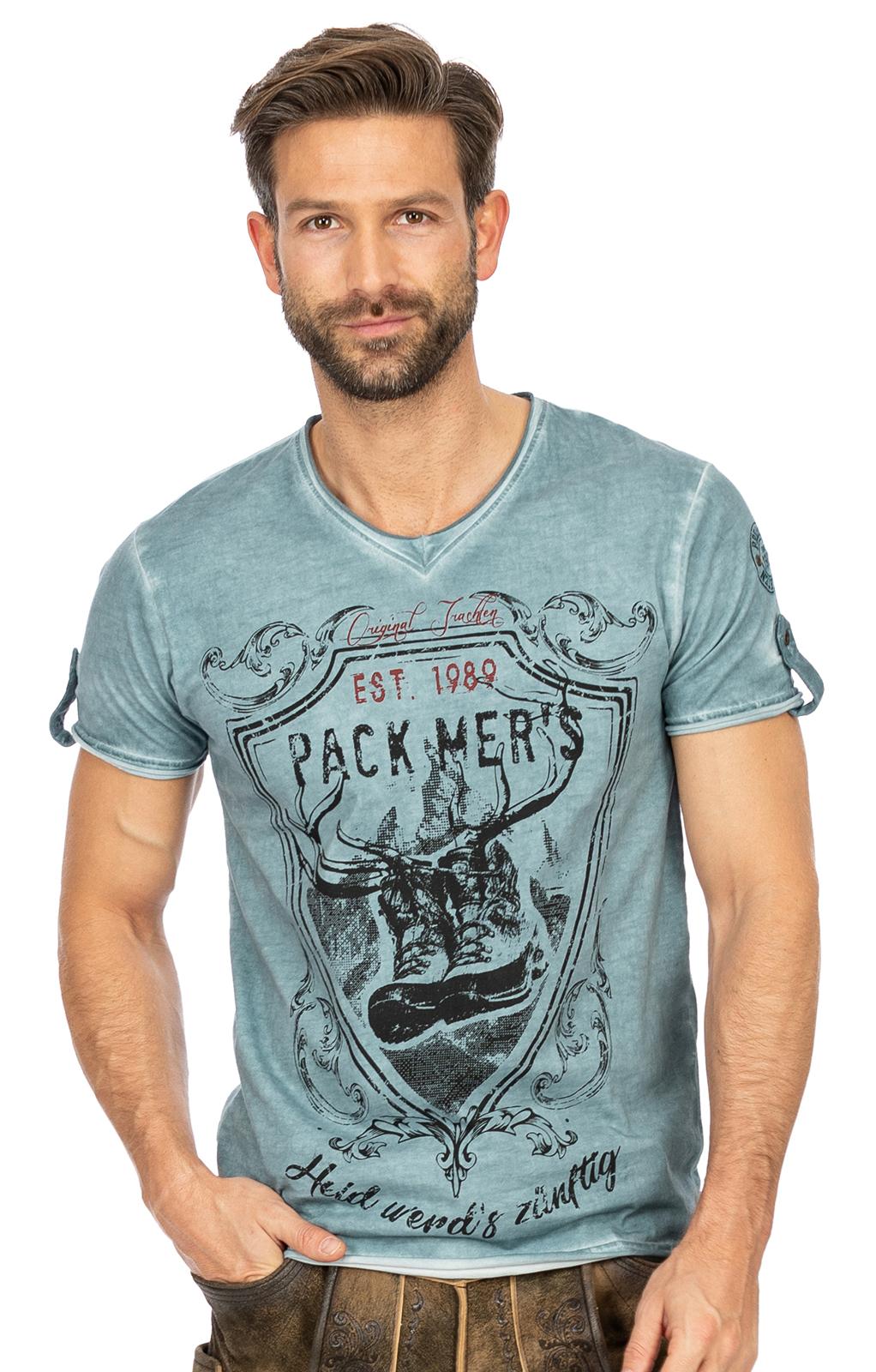 T-Shirt E55 - ERNST blau von Marjo