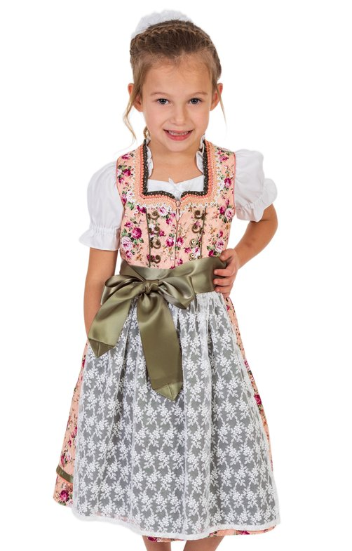 Traditional Children dirndl LISA apricot
