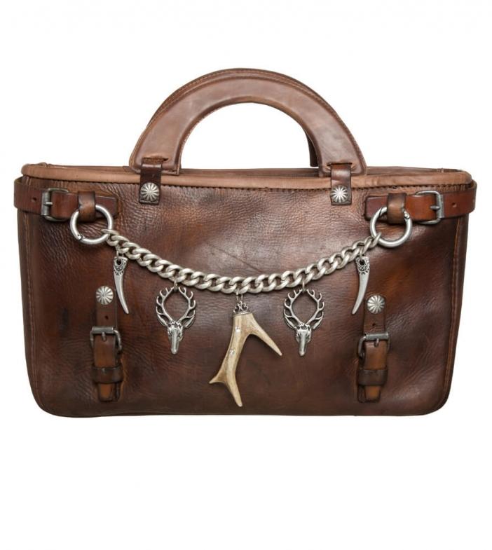 Traditional dirndl bag 490-2677 brown