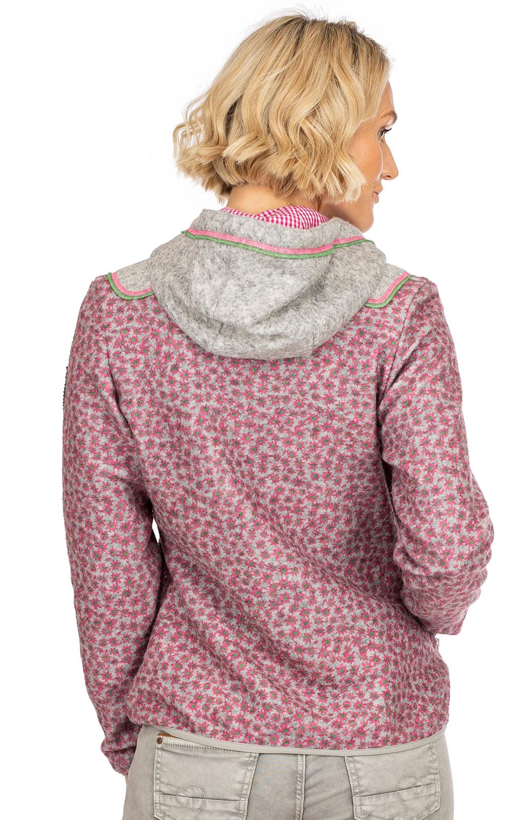 weitere Bilder von Walkjacke SCHWARZWAND pink grau