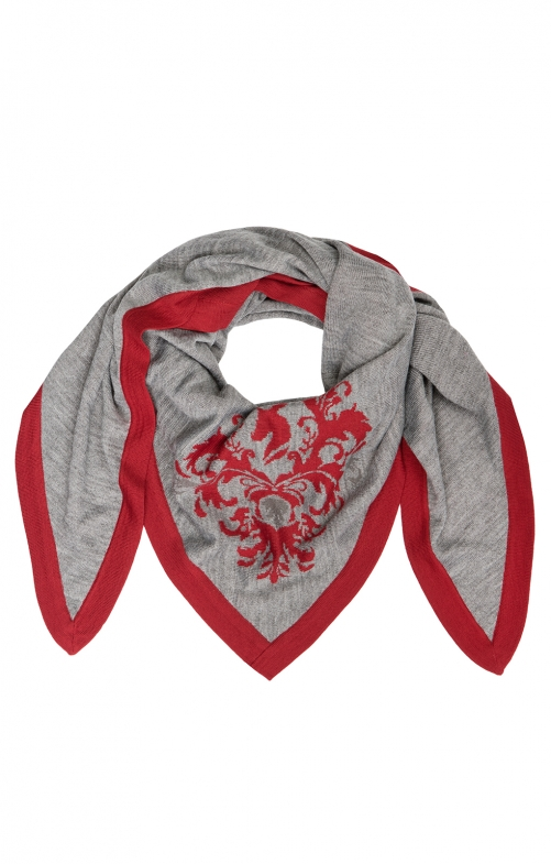 Trachten scarf SH-385 gray red