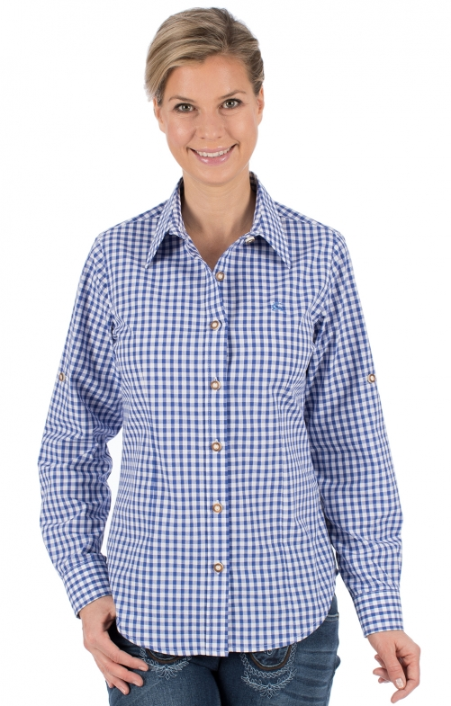 Traditional blouse CHECKERED blue