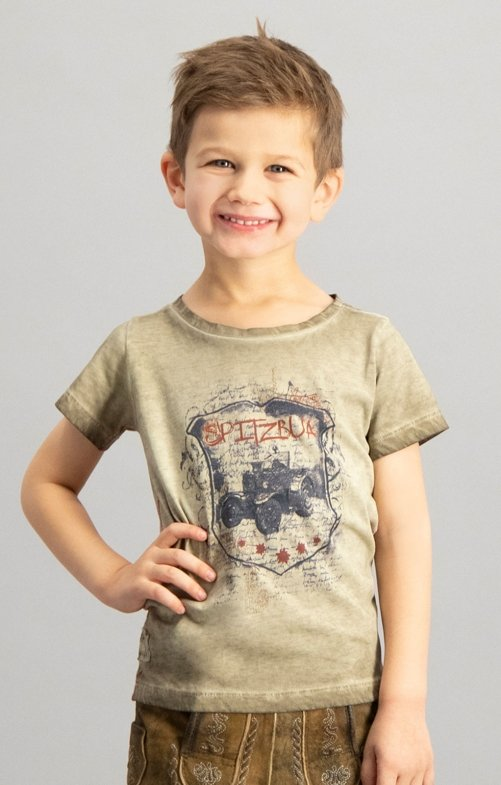 Children traditional shirt BULLDOG junior sand