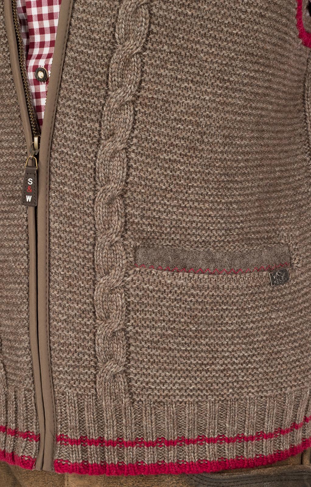 weitere Bilder von Gilet Costumi maglia marrone rosso