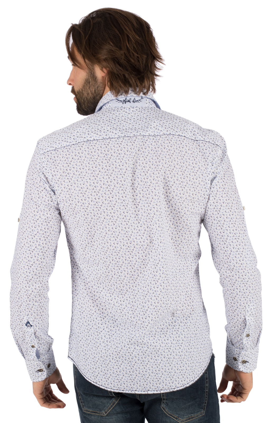 weitere Bilder von German traditional shirt long sleeve FABIUS blue white