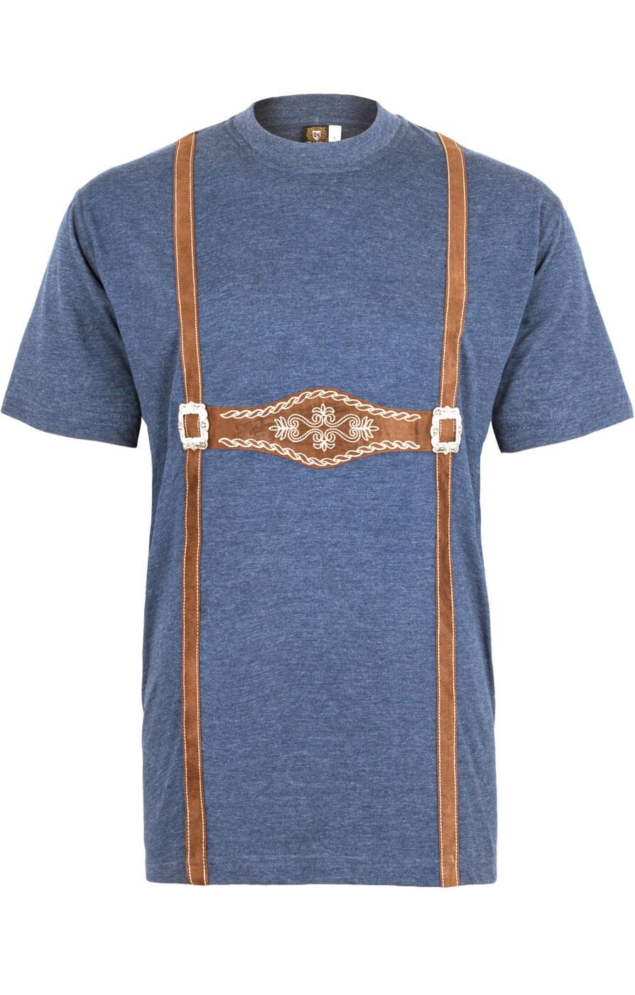 weitere Bilder von Trachtenshirt T-Shirt 928001-3460-42blauw