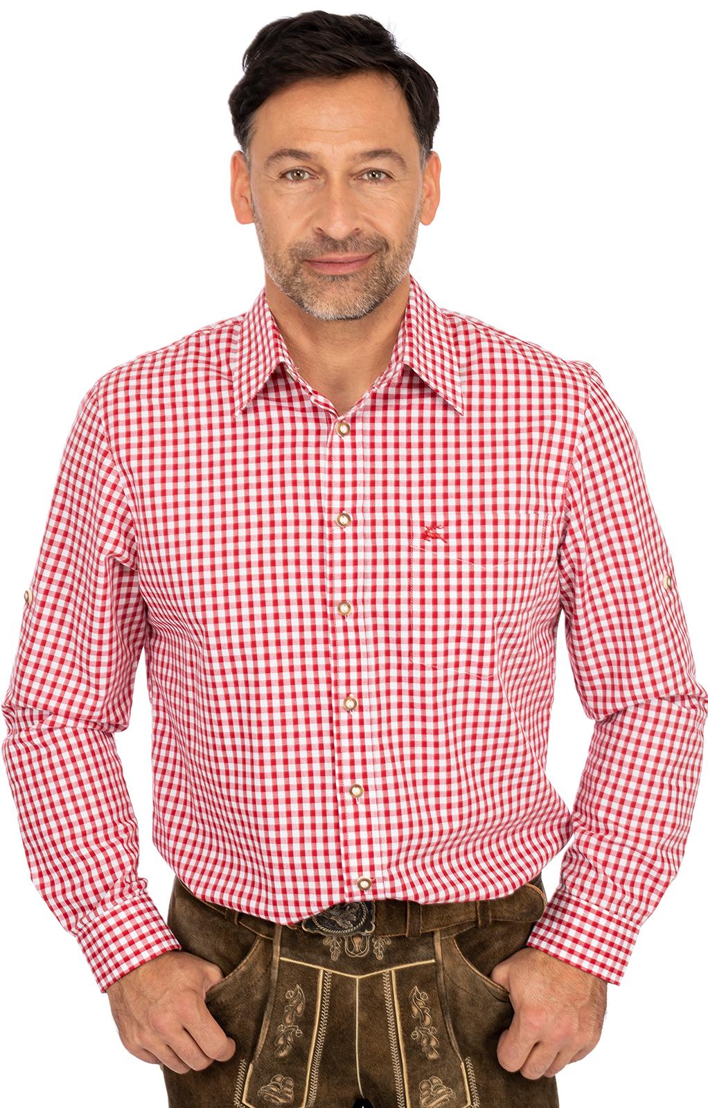 TRACHTEN Camicia a quadri blu o rosso-Oktoberfest-Oktoberfest-Camicia da donna