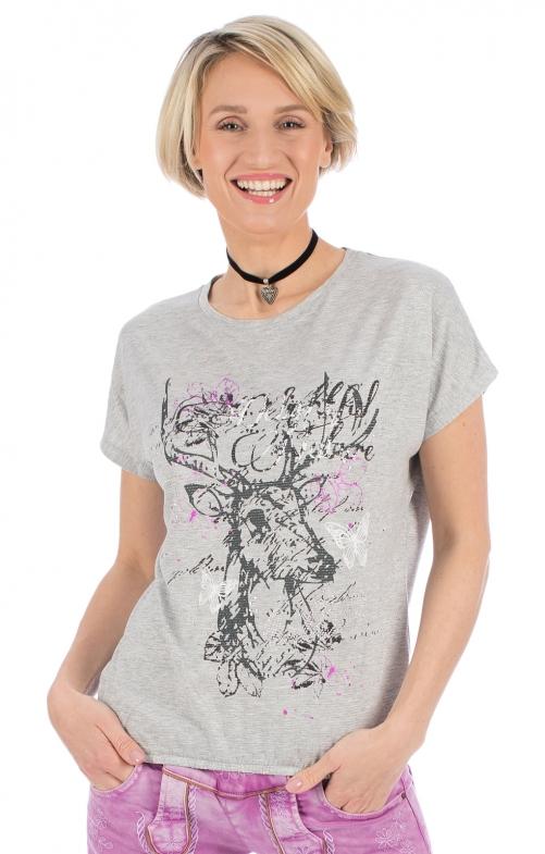 Trachten T-Shirt OYA grau