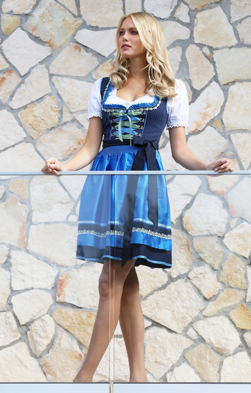 Minidirndl 2pcs. 50 cm PATTY navy azure