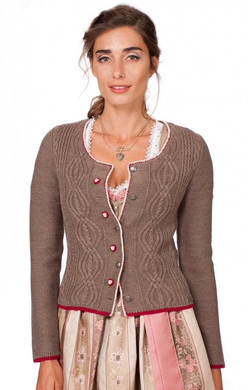 Traditional Cardigan Fancy brown