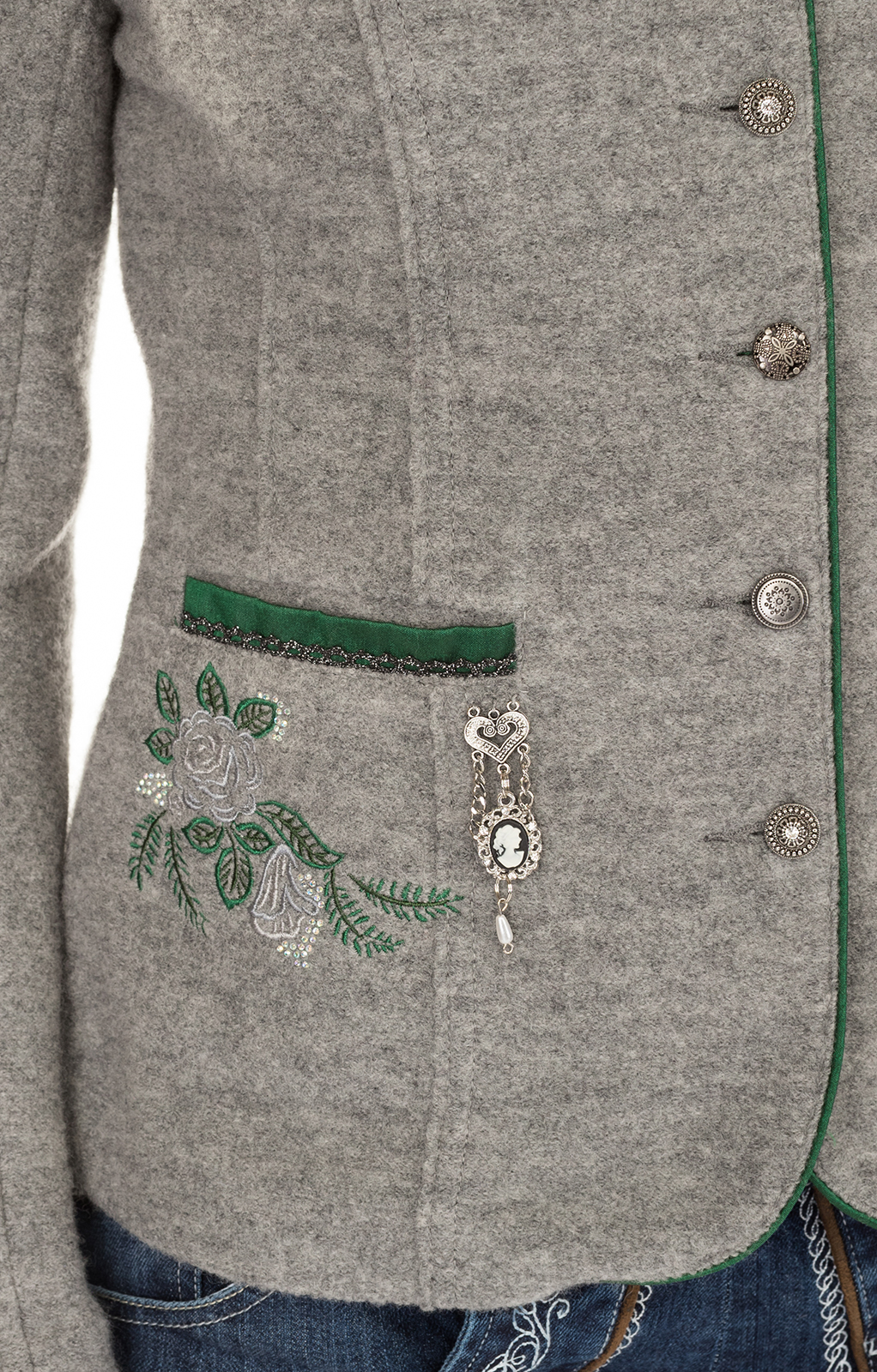 weitere Bilder von Trachten Jacket outside gray green
