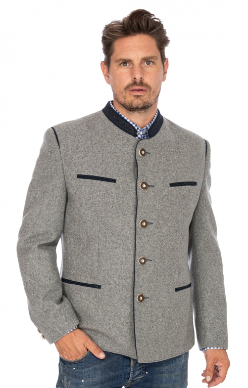 German traditional jacket STACHUS hellgray blue