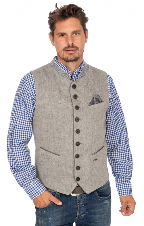 Tradition vest ROLAND gray