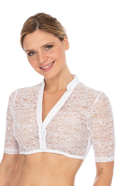 Traditional dirndl blouse B1038 white
