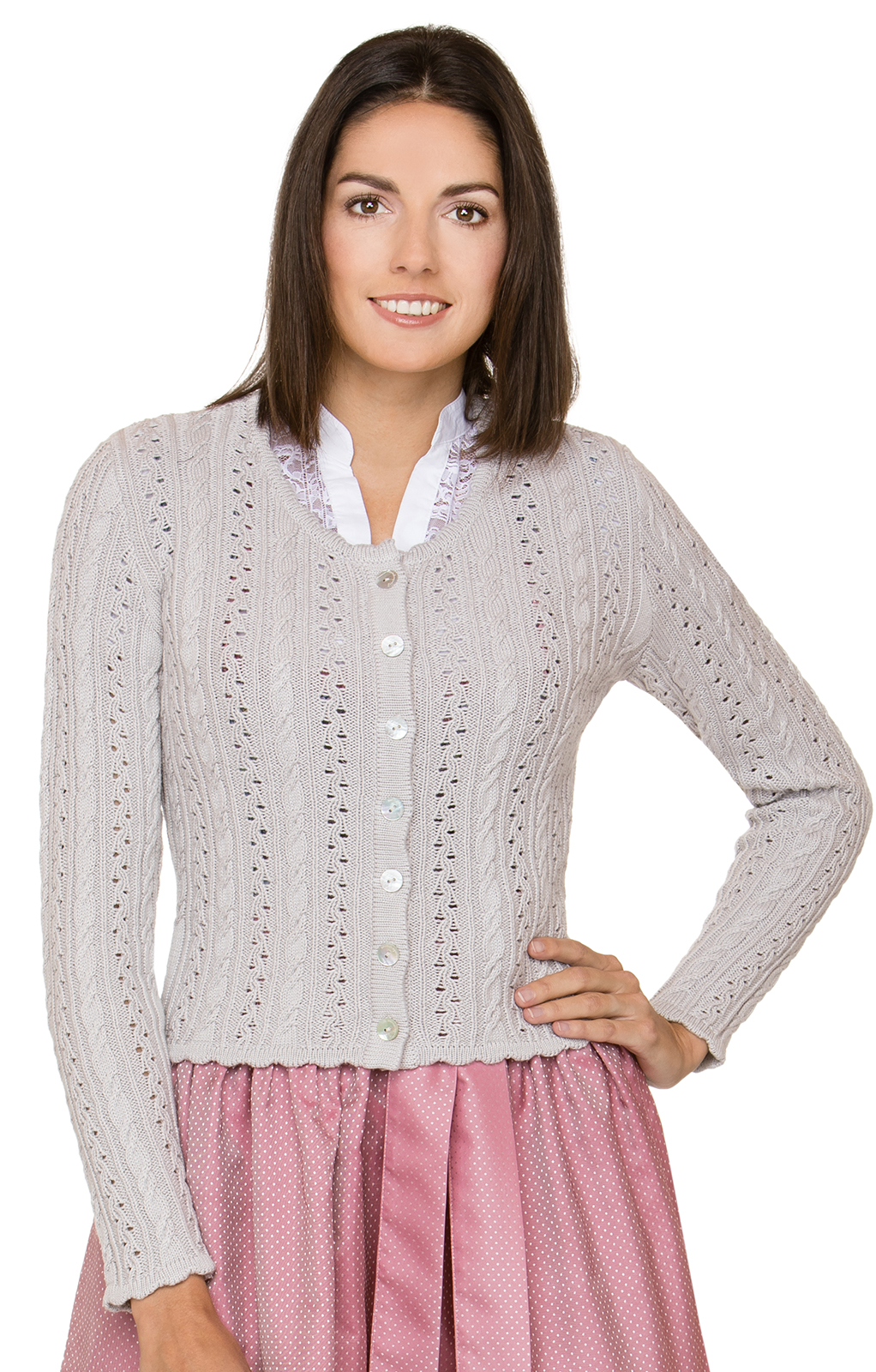 Costume cardigan LIZ2 brown von Stockerpoint