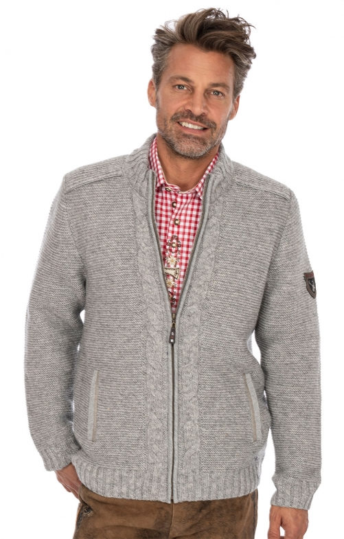 Traditional cardigan MERZEN gray