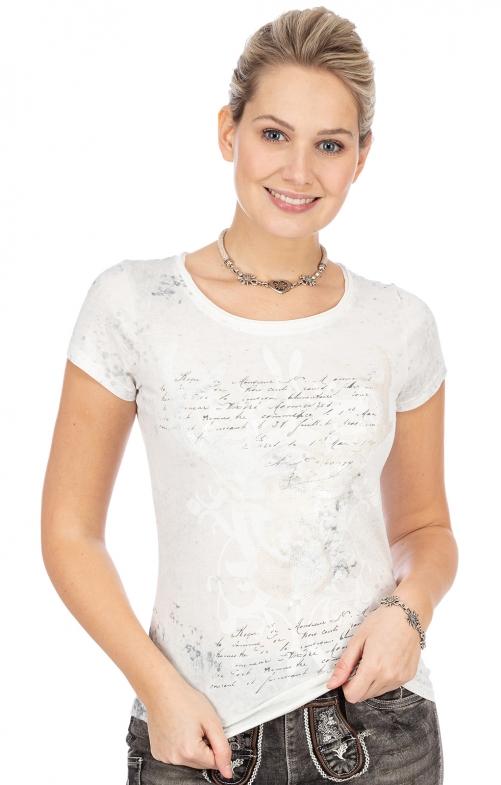 T-Shirt ESTHER vintage weiß