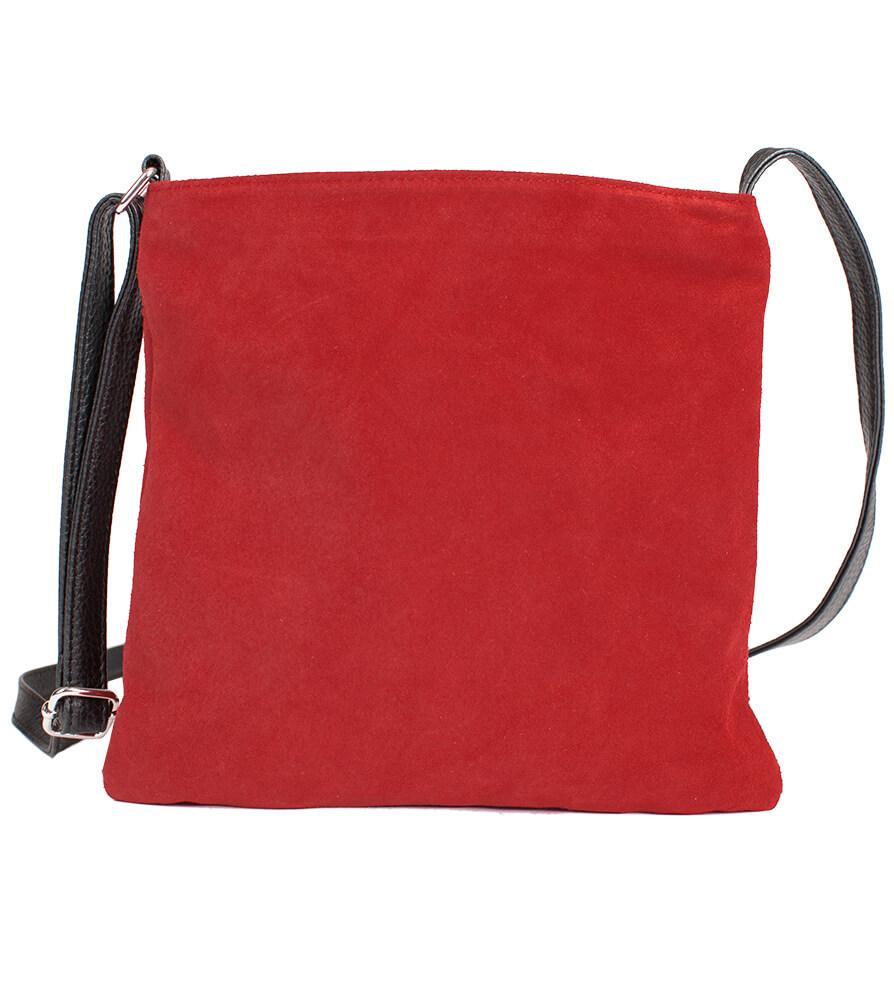 weitere Bilder von Wildledertasche mit Edelweiss, rot