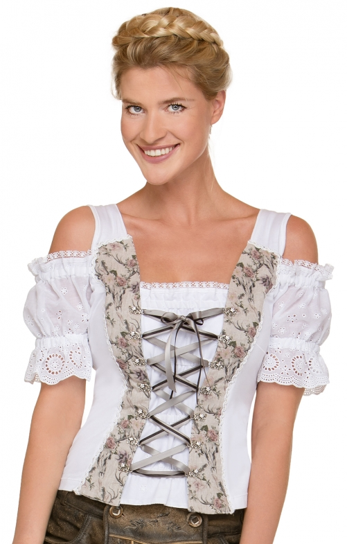 Trachten Shirt Saloria white