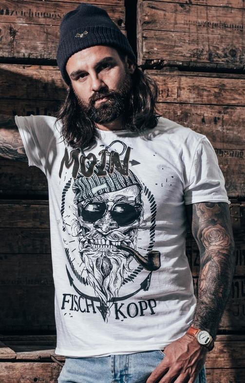 T-Shirt FISCHKOPP weiß