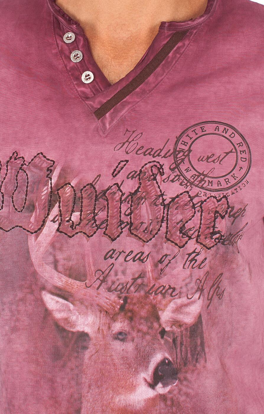 weitere Bilder von Trachtenshirt T-Shirt Uberto burgund