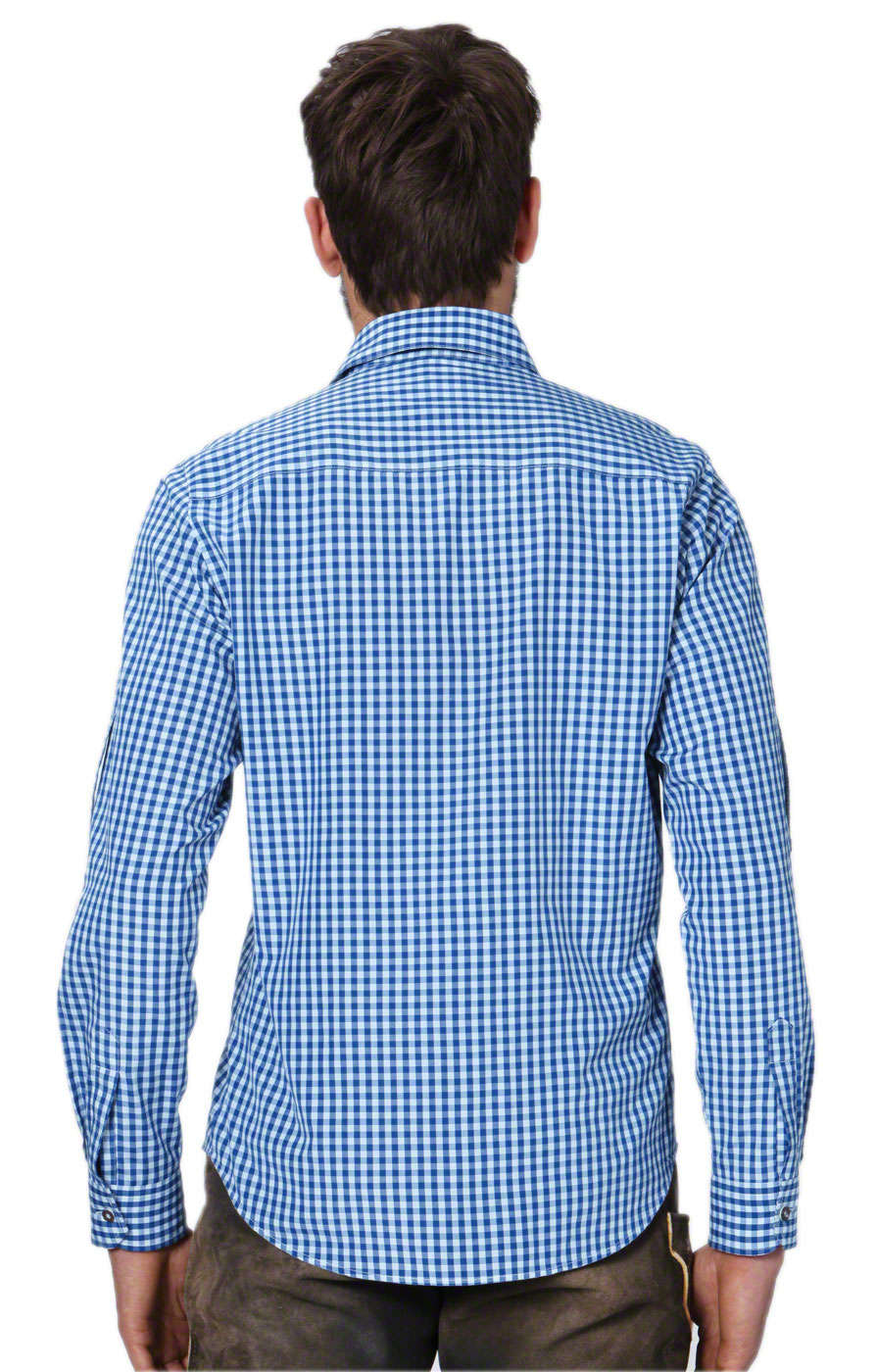 weitere Bilder von German traditional shirt checkered Campos2 blue