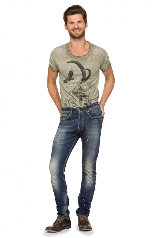 Trachtenjeans No1-10 dirtywash