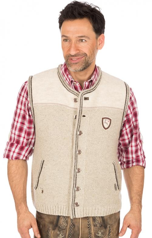 German knitted waistcoat Ramsau SW nature