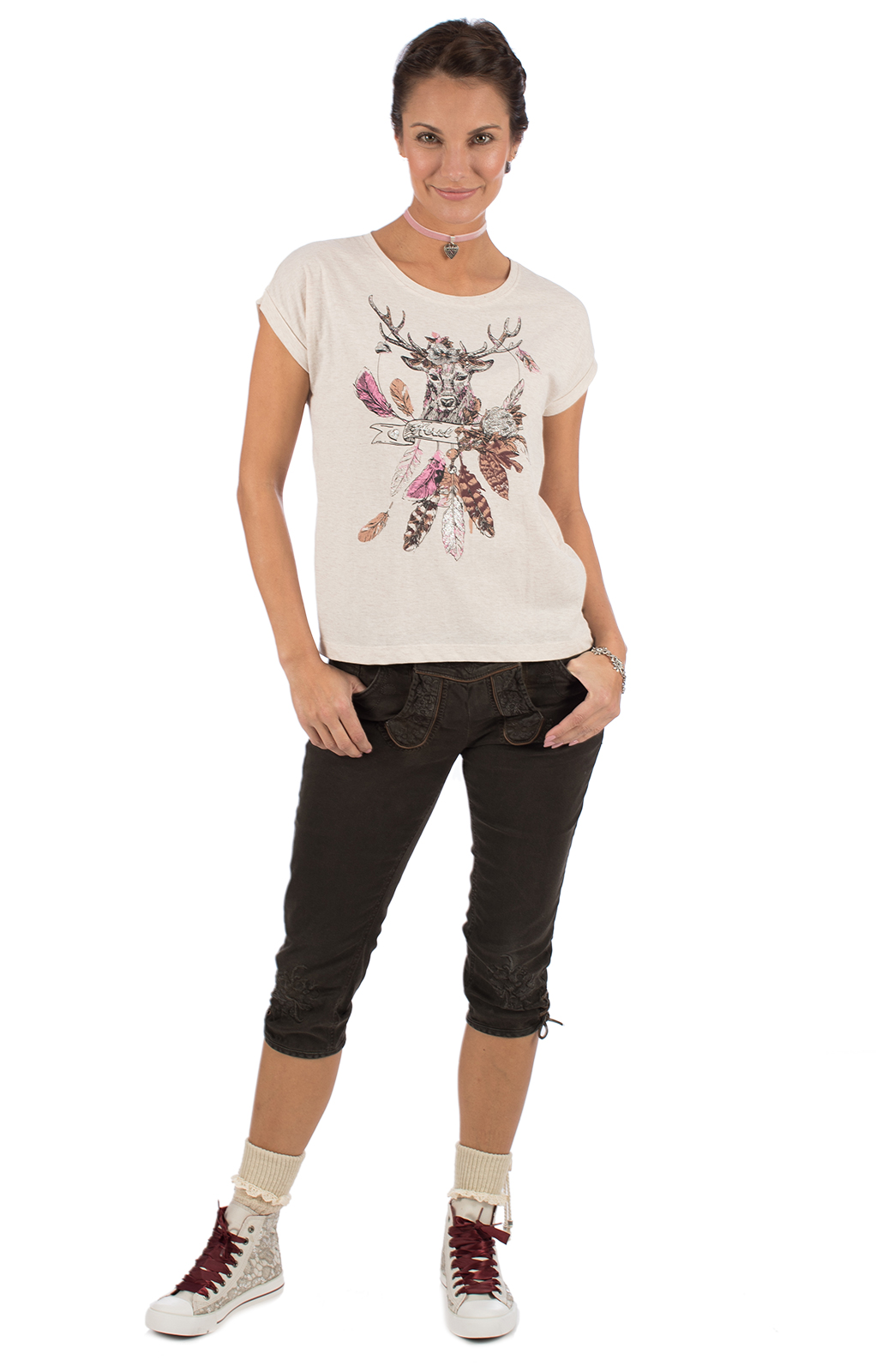 weitere Bilder von Trachten Shirt MESQUITE beige
