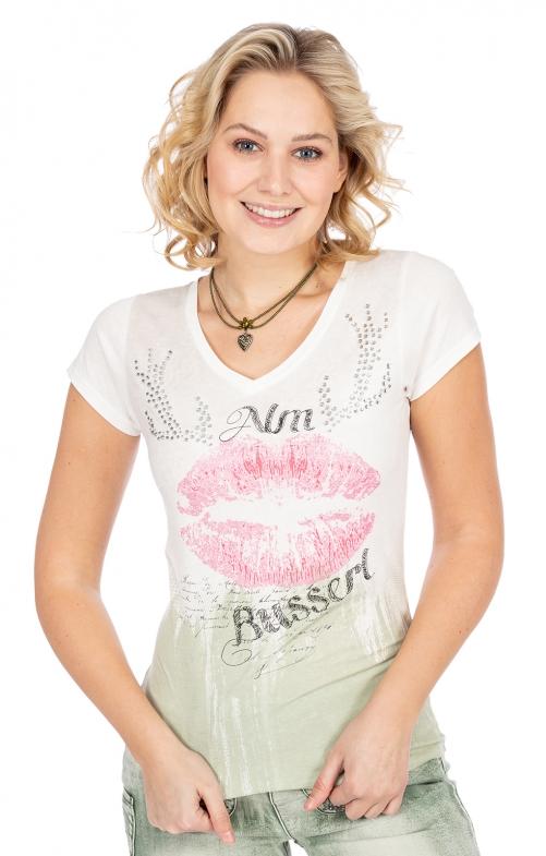 T-Shirt LOTTA vintage weiß